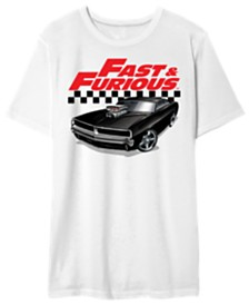 Fast & Furious Men's Dom's Charger Graphic Tshirt