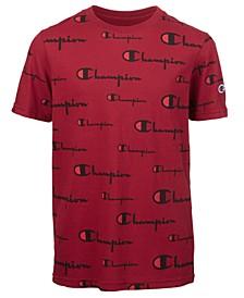 Big Boys Script-Print T-Shirt