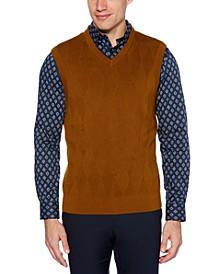 Men's Regular-Fit Argyle V-Neck Sweater Vest