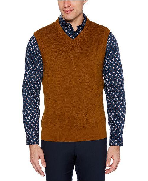 Perry Ellis Men's Regular-Fit Argyle V-Neck Sweater Vest