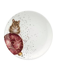 Wrendale Coupe Plate Set (Dog and Mouse)