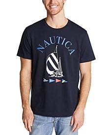 Men's Boat and Flag Tee Shirt
