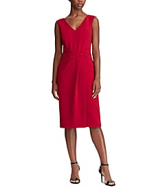 Petite Ruched Sleeveless Dress