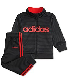Little Boys 2-Pc. Embossed Logo Jacket & Pants Set