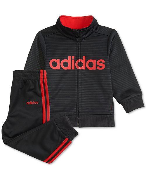 adidas Little Boys 2-Pc. Embossed Logo Jacket & Pants Set