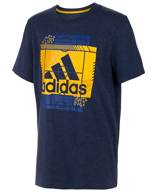 adidas Big Boys Heathered Field Court T-Shirt