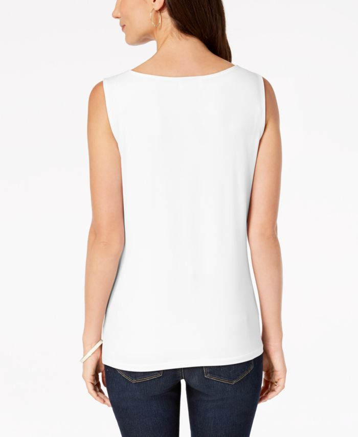 Charter Club Petite Sleeveless Boatneck Top, Created for Macy's & Reviews - Tops - Petites - Macy's