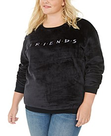 Trendy Plus Size Friends Plush Sweatshirt