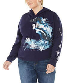 Disney by Love Tribe Trendy Plus Size Frozen Hoodie