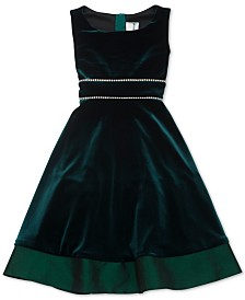 Rare Editions Big Girls Embellished Velvet Dress