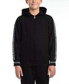 Calvin Klein Jeans Big Boys Logo Tape Fleece Hoodie