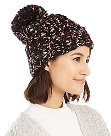 Bring Knit On Cuffed Hat With Pom-Pom
