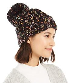 Cejon Bring Knit On Cuffed Hat With Pom-Pom