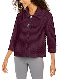 Petite Two-Button Textured Topper, Created For Macy's