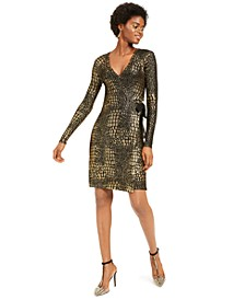 INC Metallic-Print Sweater Dress, Created for Macy's