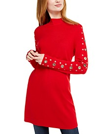 INC Grommet-Detail Tunic Sweater, Created for Macy's