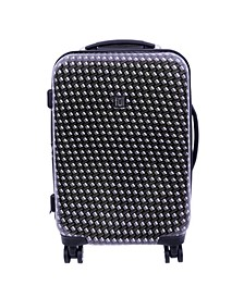 """Metal Chain 20"""" Hard Sided Spinner Luggage"""