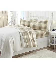 Great Bay Home Polar Fleece Plaid Printed Pillowcase Set of 2