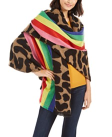 Betsey Johnson Wild Rainbow Blanket Wrap