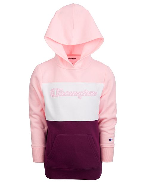 Champion Little Girls Colorblocked Hoodie