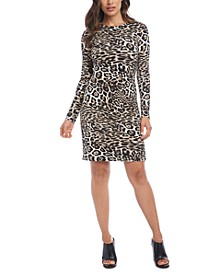 Leopard-Print Sheath Dress
