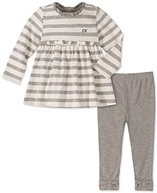 Baby Girls 2-Pc. Striped Tunic & Leggings Set