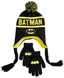 Little & Big Boys 2-Pc. Batman Hat & Gloves Set