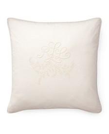 Ralph Lauren Claudia Monogram 20 Square Decorative Throw Pillow