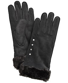 Koolaburra by UGG® Studded Gloves with Faux Fur Cuff