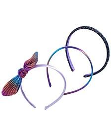Little & Big Girls 3-Pk. Rainbow & Glitter Headbands