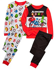 Little & Big Boys 4-Pc. Cotton Avengers Pajama Set