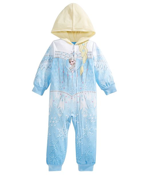 AME Little & Big Girls 1-Pc. Frozen Hooded Fleece Pajamas