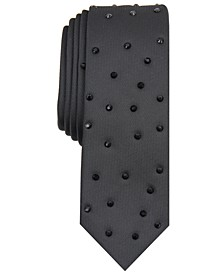 INC Men's Raining Diamonds Studded Tie, Created For Macy's