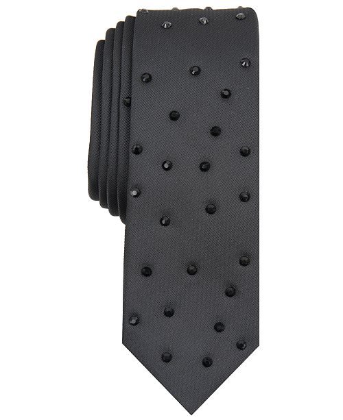 INC International Concepts INC Men's Raining Diamonds Studded Tie, Created For Macy's