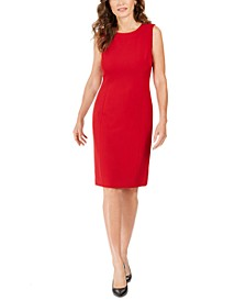 Crew-Neck Sheath Dress