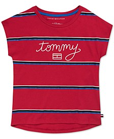 Toddler Girls Cotton Striped Tommy T-Shirt