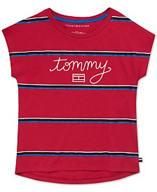 Tommy Hilfiger Big Girls Cotton Striped Tommy T-Shirt