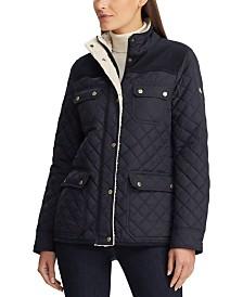 Lauren Ralph Lauren Corduroy-Trim Quilted Jacket