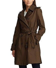 Lauren Ralph Lauren Petite Double Breasted Trench Coat, Created for Macy's