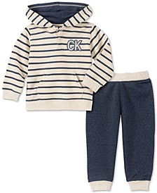 Baby Boys 2-Pc. French Terry Hoodie & Jogger Pants Set