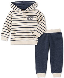Calvin Klein Baby Boys 2-Pc. French Terry Hoodie & Jogger Pants Set