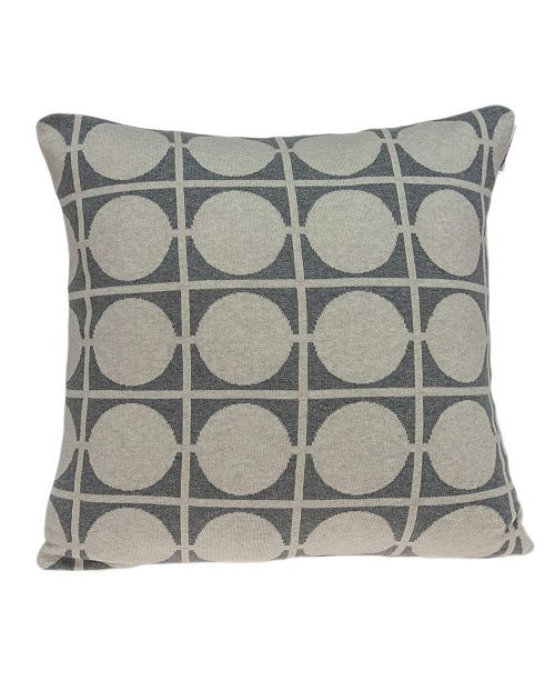 Parkland Collection Aani Transitional Tan Pillow Cover With Down Insert