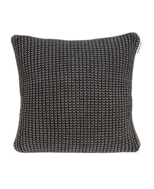 Parkland Collection Cabo Transitional Charcoal Pillow Cover with Polyester Insert