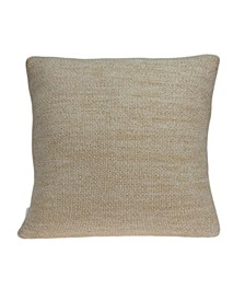 Gila Transitional Tan Pillow Cover With Down Insert