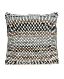 Liam Transitional Tan Pillow Cover With Down Insert