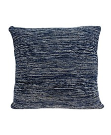 Caliga Transitional Blue Pillow Cover With Down Insert