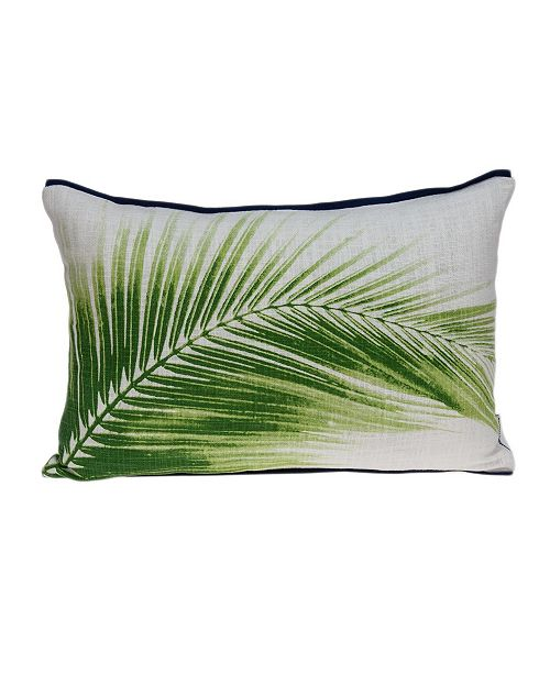 Parkland Collection Areca Tropical Green Pillow Cover with Polyester Insert