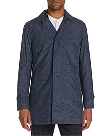 Tallia Men's Slim-Fit Paisley Packable Trench Coat