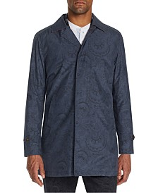 Tallia Men's Slim-Fit Leopard Packable Trench Coat