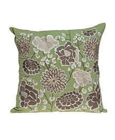 Adelia Tropical Green Pillow Cover with Polyester Insert